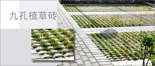 草砖铺设而成的生态植草停车场